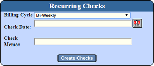 Recurring Check Payments